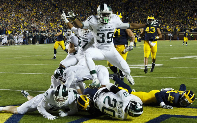 The Michigan State-Michigan ending will go down in history. (USATSI)
