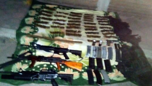 Aseguran SSP y Sedena armamento en La Huacana