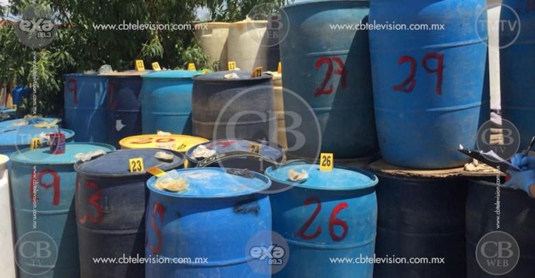 PGR decomisa más de 10 mil litros de hidrocarburo ilegal