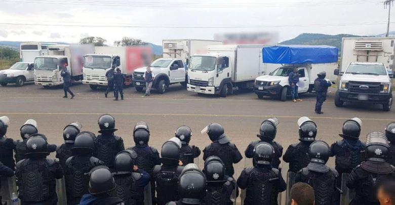 Por segundo día consecutivo SSP libera unidades retenidas por normalistas