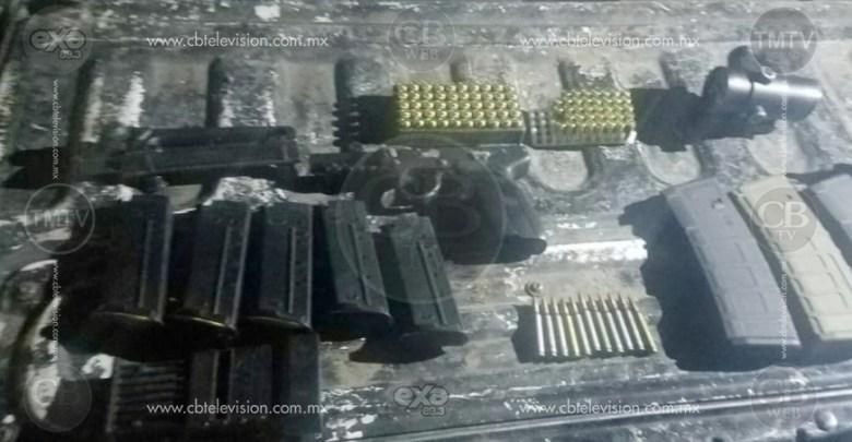 Elementos policiales detienen a dos con arsenal en Sahuayo