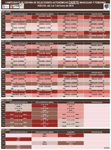 Calendario Cadete 2019