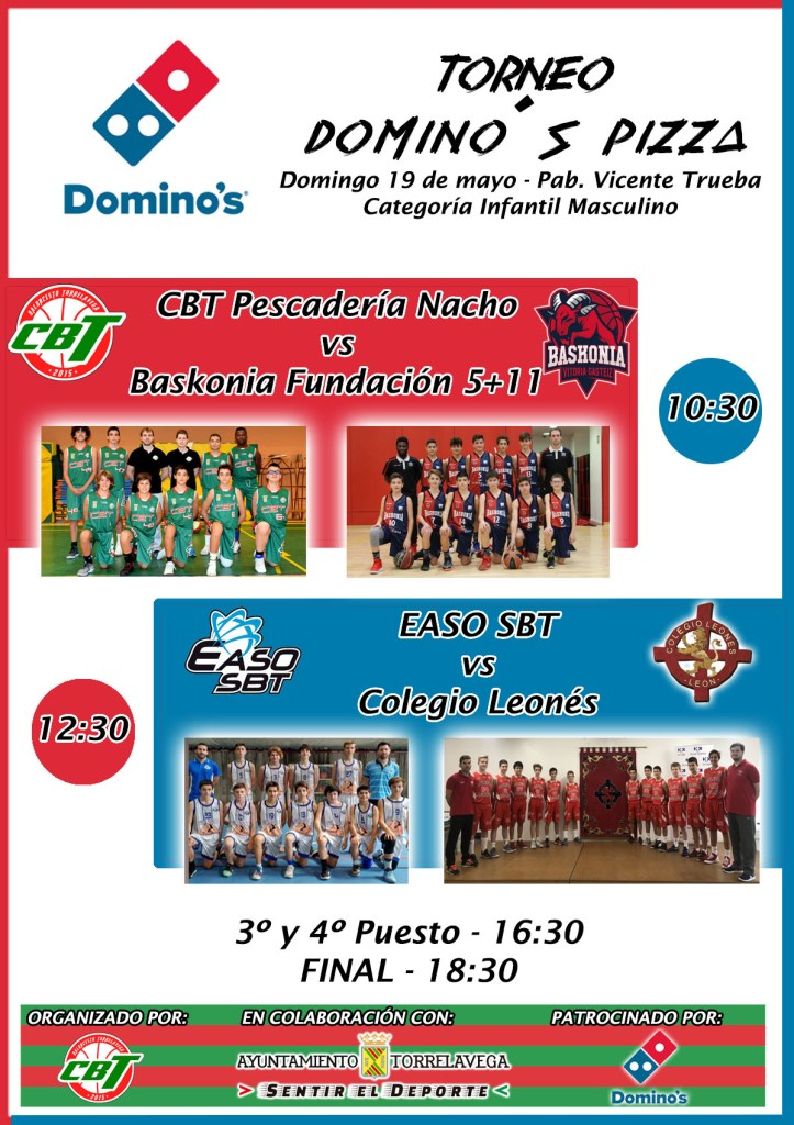Cartel Torneo Infantil Domino's Pizza