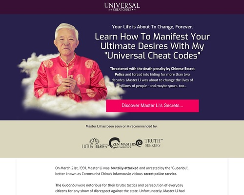 Universal Cheat Codes by Master Li TODAY OFFER ON AMAZON