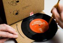 the folding cardboard phonograph advert