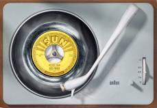 elvis' album on a braun turntable