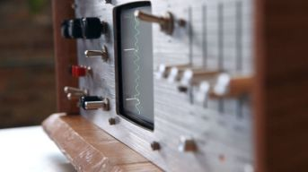 screen of the audio infuser 4700, made out of an old emerson crt