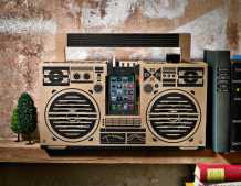 brown design of the berlin boombox
