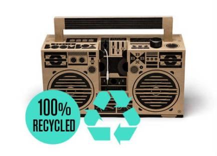 berlin boombox, cardboard 100% recycled