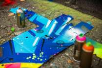 spray can and customized berlin boombox