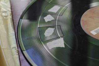how to put the samples together on a vinyl record, use some adhesive tape