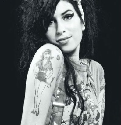 amy winehouse, picture of her tatoos