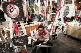 artist stool, braderie de l'art