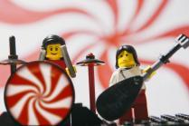 white strips built on lego