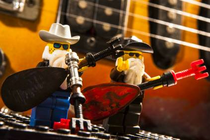 zz top made from lego