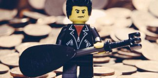 lego music logo, johnny cash