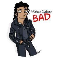 simpsonized by adn, Michael, Jackson