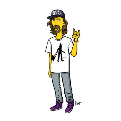 simpsonized by adn, busy p