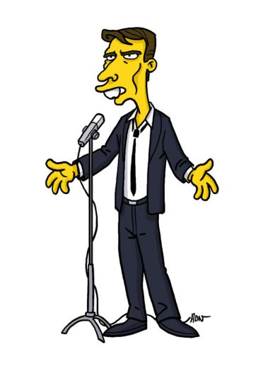 simpsonized by adn, jacques brel