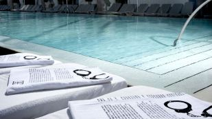 hidden page in a swiming pool for the decode jay z project with bing