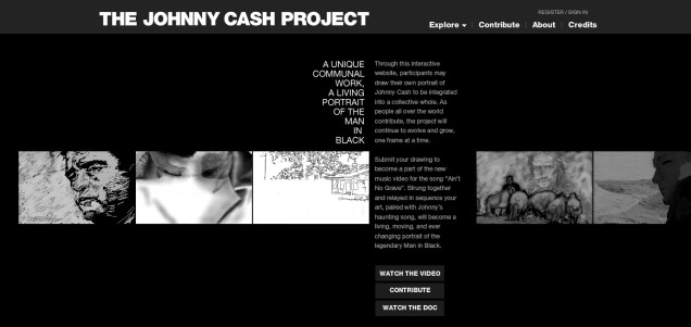 the johnny cash project, homepage website