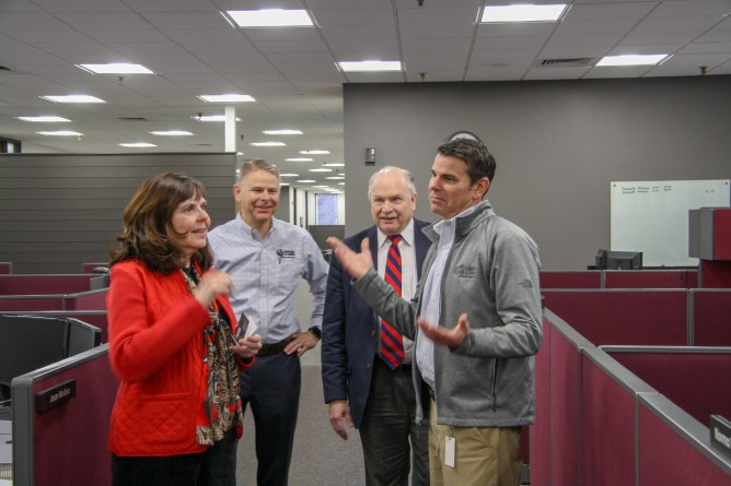 Trevor Stohr discusses our new office space with Director Boczek
