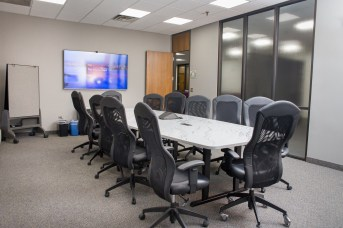 Many offices have standing desks, so does our main conference room.