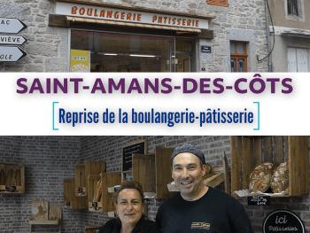 Franck Chabanol Laurence Tiphineau reprise boulangerie-pâtisserie Saint-Amans-des-Côts