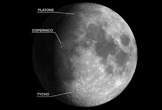 La Luna del 6 aprile 2017