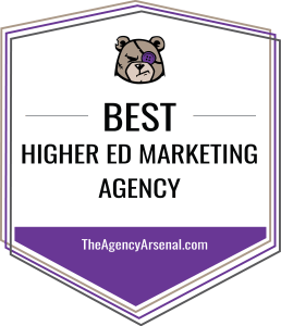 Best Higher Education Marketing Agency Badge