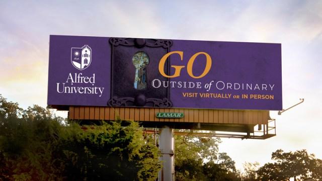 Alfred University Go Outside of Ordinary Billboard
