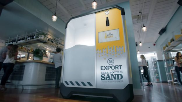 This machine turns beer bottles into sand in an effort to save the world's beaches
