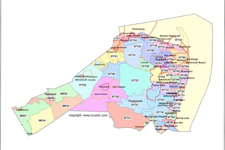 new jersey map with zip codes » Full HD MAPS Locations - Another ...