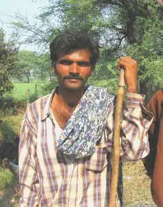 A modern shepherd of Gujarat, India