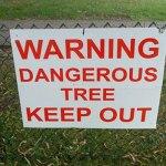Humorous warning sign