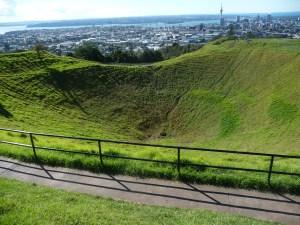 Mount Eden, a volcano in Auckland