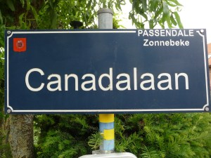 Street sign honouring Canada
