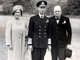 George VI and Winston Churchill
