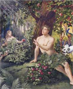 Adam and Eve at the tree
