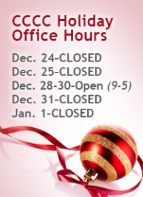 Merry Christmas from CCCC & Christmas Office Hours