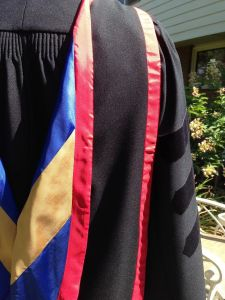Graduation hood and gown