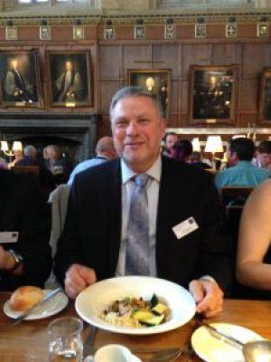 Photo of John at dinner