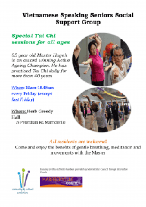 Flyer -Tai chi with Vietnamese group