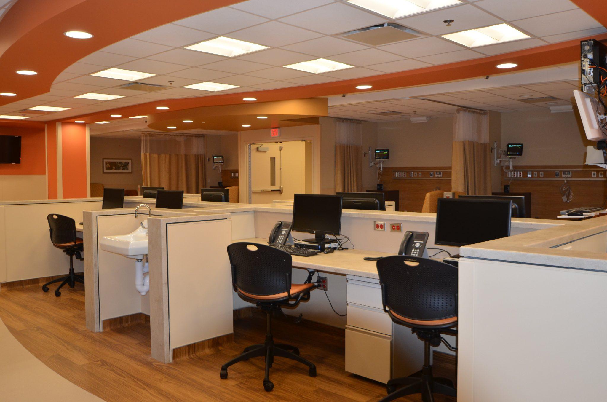 11St. Joseph outpatient surgery room with desks