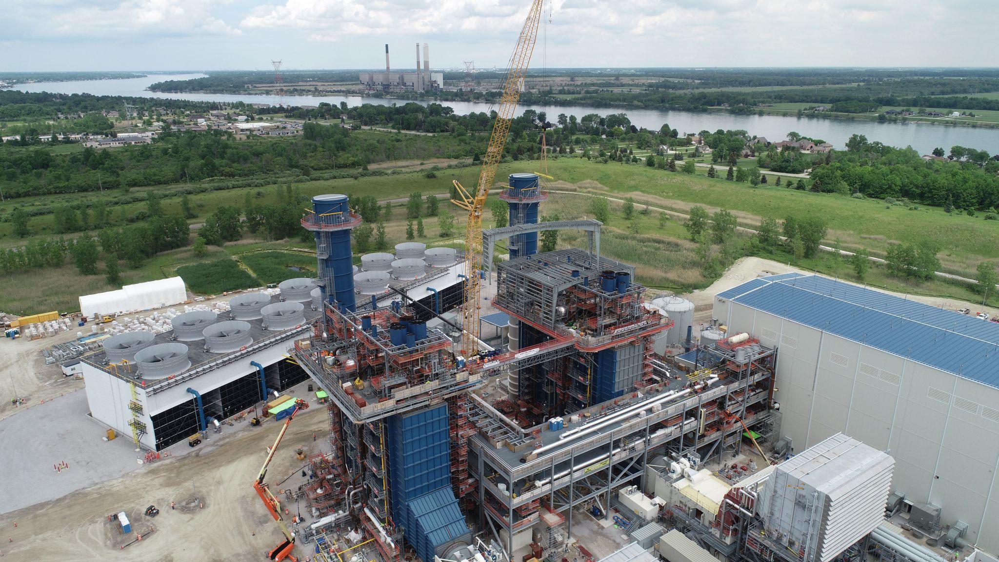 11Kiewit Power construction site building aerial view