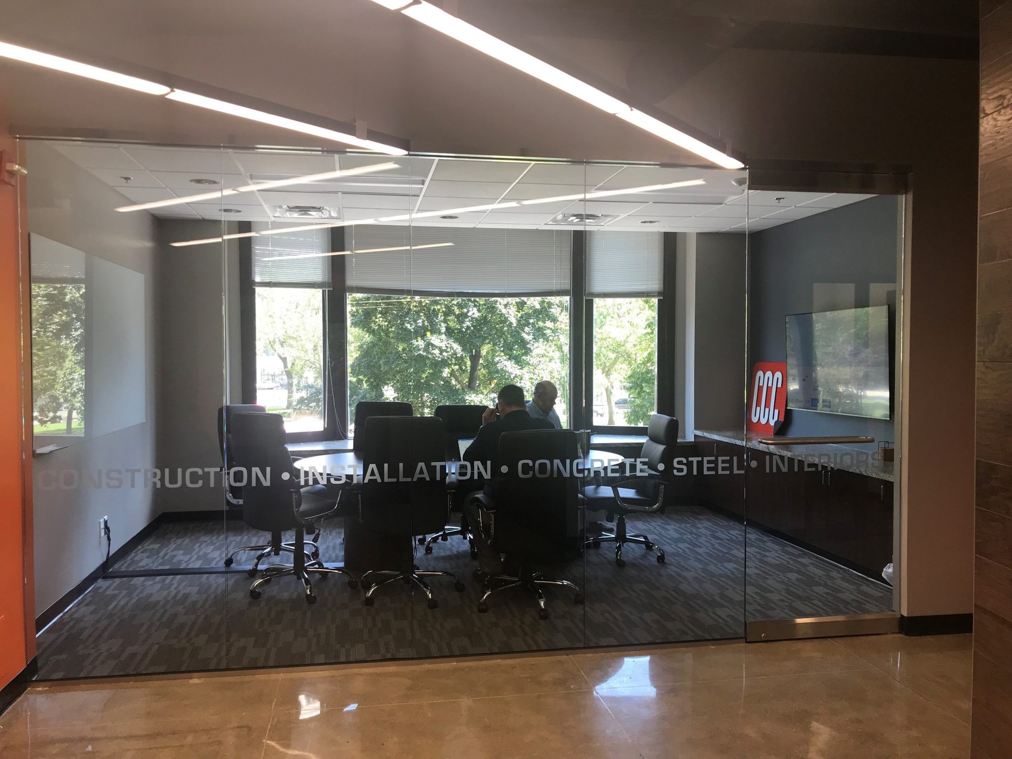11CCC meeting room with glass wall