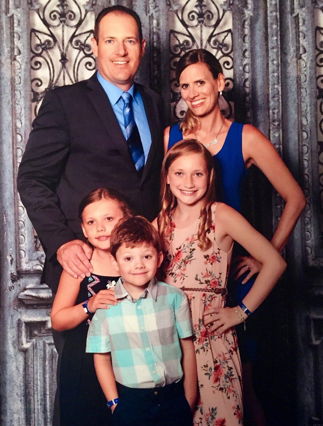 11Matt Stone family, man, woman, and three children