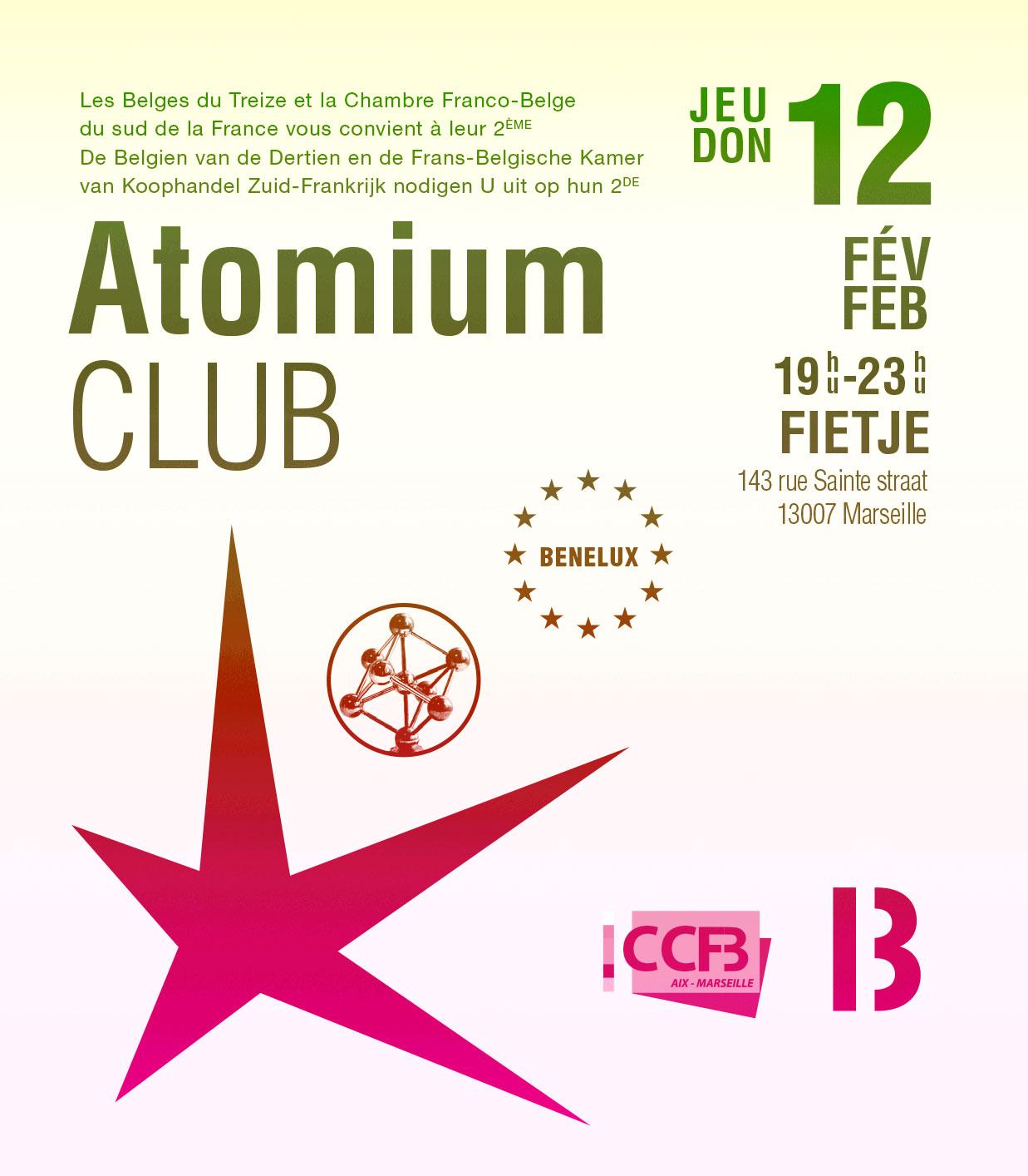 Afterwork atomium club ccfb - Chambre de commerce franco belge ...