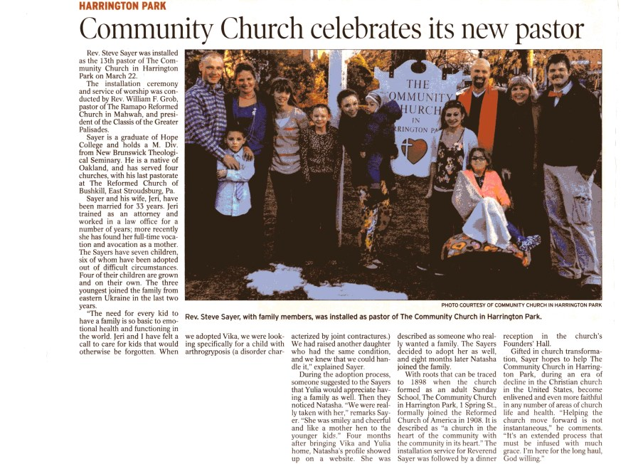 Sayer Family Article