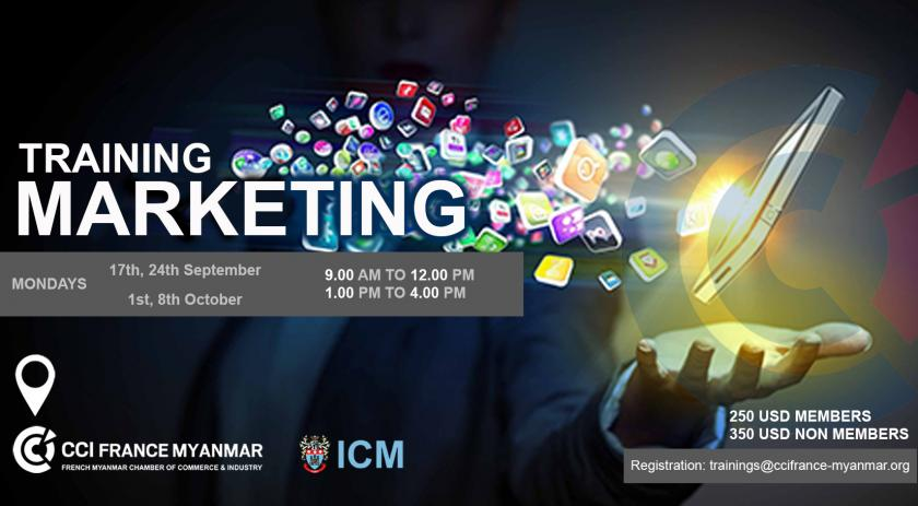 Combination of digital media and sports marketing revealed: Digital Marketing Training   CCI France Myanmar